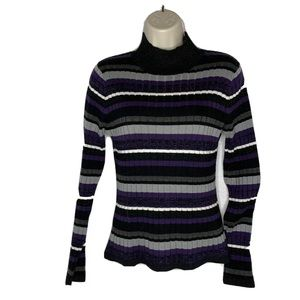 4/$35 SPANNER Striped Sparkle Long sleeve Stretch